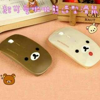 【缺貨停售】日本超卡哇伊拉拉熊造型無線滑鼠
