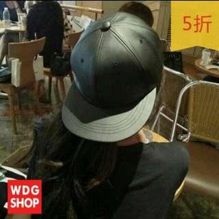 【缺貨停售】韓國流行素色皮質板帽