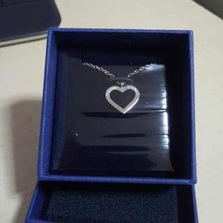 (Reserved)Swarovski Heart Charm Necklace