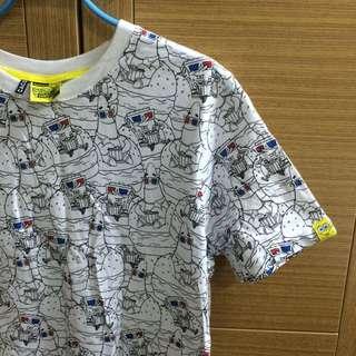 (保留)CACO 海綿寶寶 M號衣服 白T 短袖