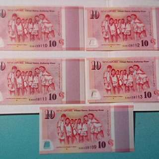 FLAWED SG50 Commemorative Notes ( WEEKEND SALES )