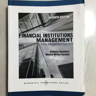Financial Institutions Management Textbook