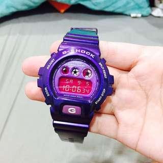 二手Gshock紫色防水運動手錶casio