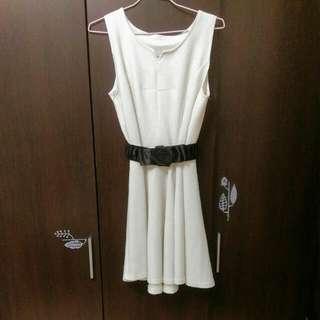 好看👍約會氣質白洋裝