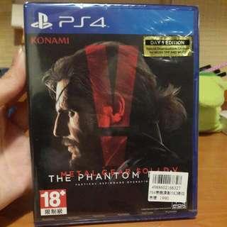 PS4潛龍諜影5幻痛-亞洲英文版(全新未拆英文版含運)可議價