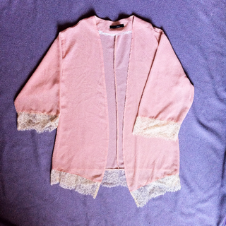Baby Pink Cardigan by Icons