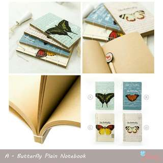 Butterfly Plain Notebook