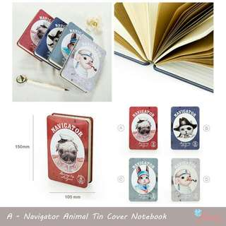 Navigator Animal Tin Cover Notebook