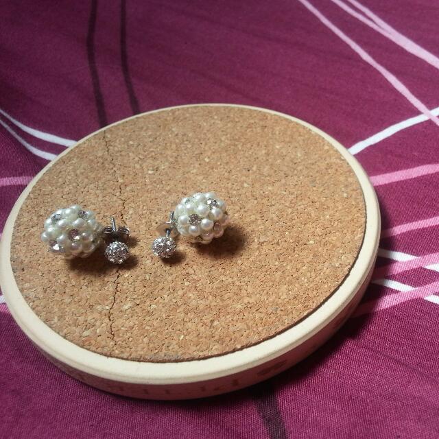 兩用 珍珠耳環