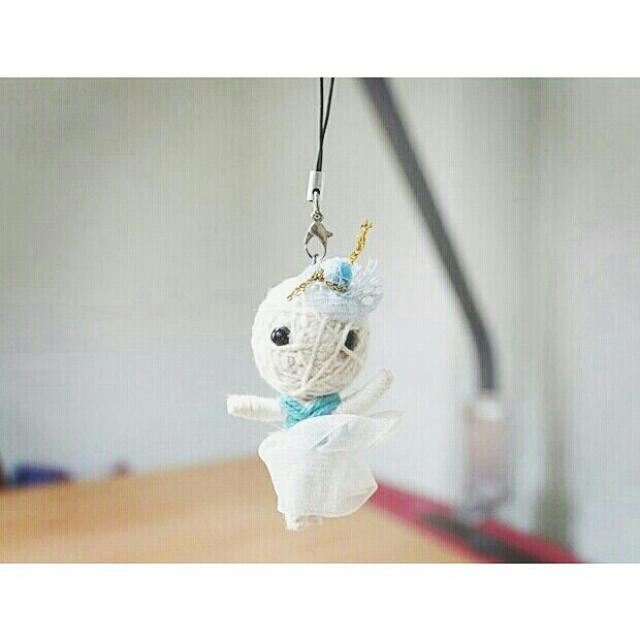 巫毒娃娃吊飾 藍色澎澎裙 芭蕾造型