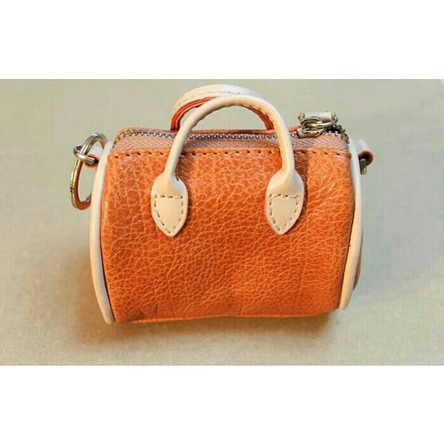 韓國 皮革 皮製 橘色 小錢包