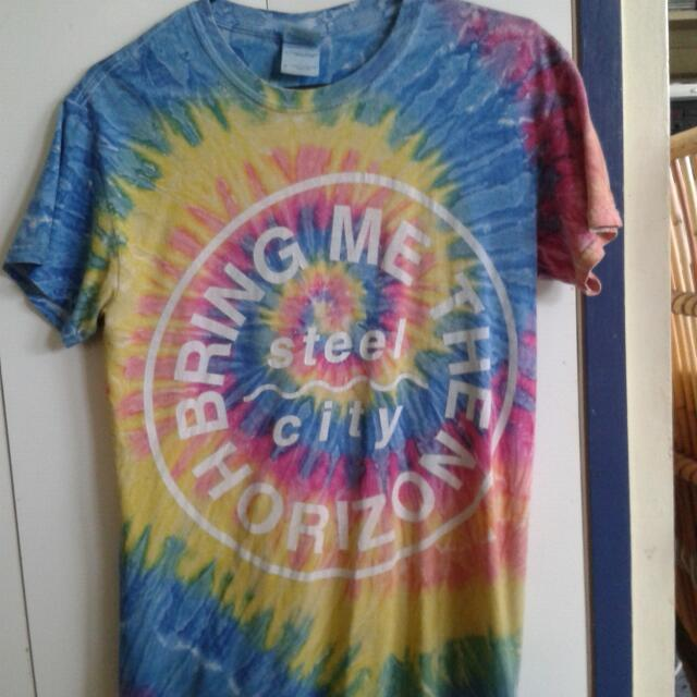 Bring Me The Horizon tye dye tshirt