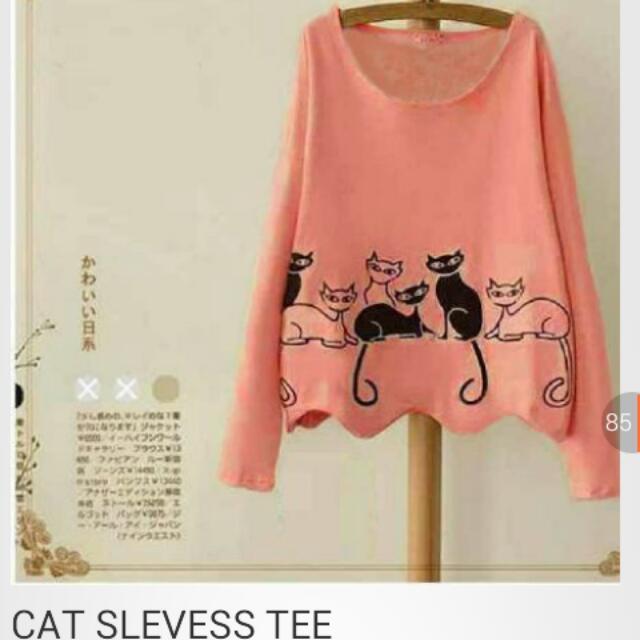 Cat Sleves Tee