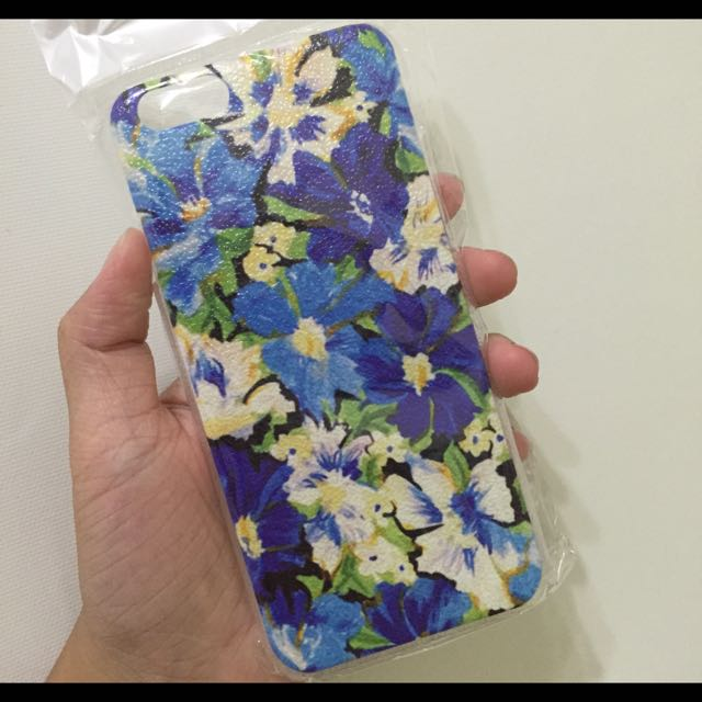 iphone 6 藍色花花 硬殼