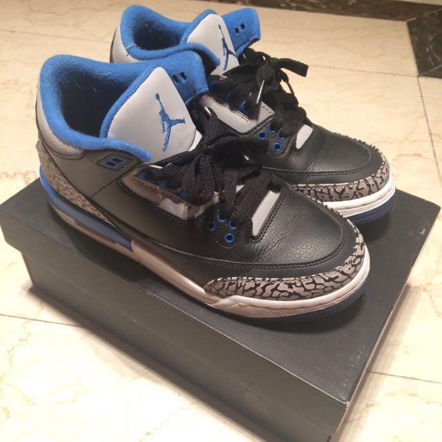 Jordan3代 黑藍爆裂紋
