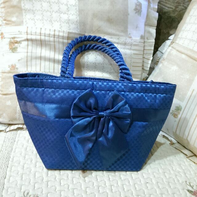 NaRaYa 曼谷包 棋盤 格紋 亮藍色 小包 全新