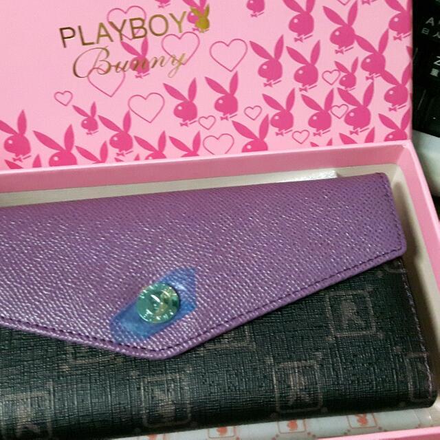 PLAYBOY-NS-Rainbow長夾-紫色
