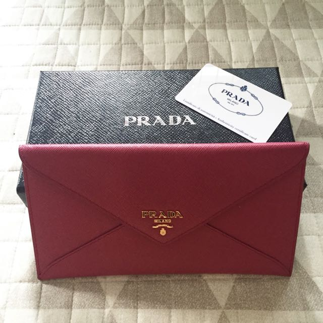a7dbbd4b974385 ... inexpensive prada envelope wallet luxury on carousell 079f7 937e4