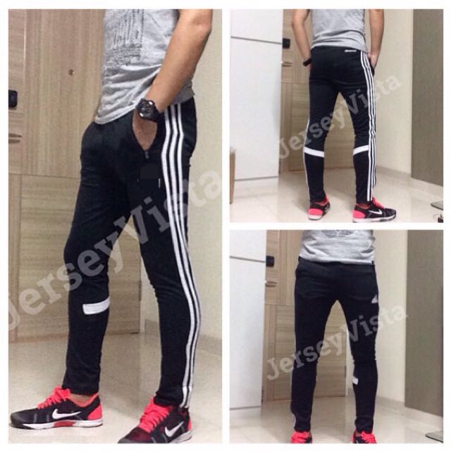 91a5adca0f RE-PRICE] Slim fit Training pants Black Adidas Long Soccer ...