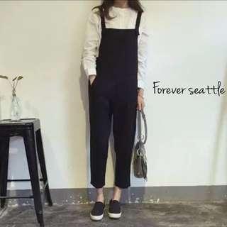2015年秋裝新款韓版連身工作褲