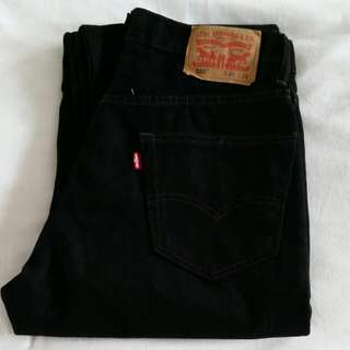 Levi's 550 Relaxed Fit Black Denim Jeans