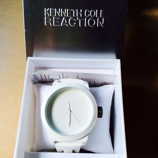 [BNIB] Kenneth Cole Reaction White Analog Watch For Men