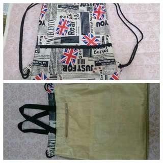 英國旗滿版防水束口袋