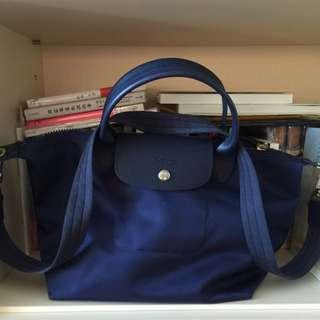 Loongchamp 藍色中型斜背包