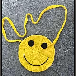 手工編織微笑包