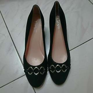 全新!美國知名品牌Taryn Rose黑色復古古典時尚優雅高跟鞋厚底鞋上班OL Zara Forever H&M Uniqlo Hunter vivienne Westwood 名牌
