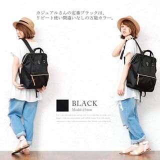 日本進口 Anello後背包 大容量—黑色