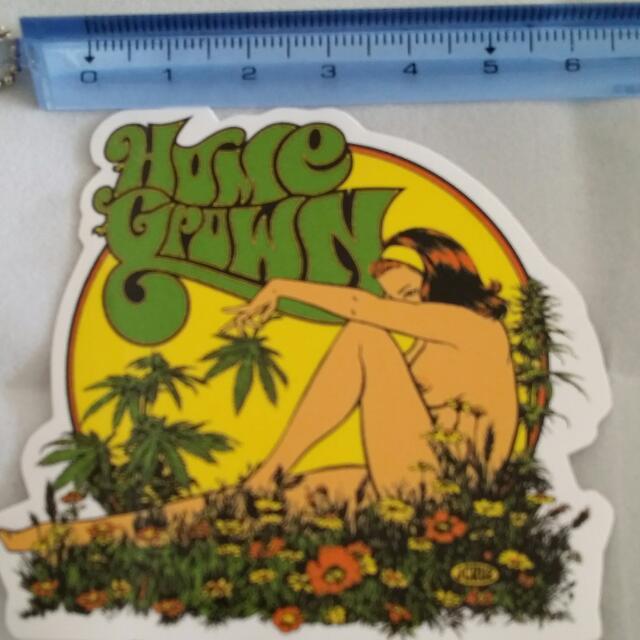 Free post AU wide. 1xHOMETOWN GROWN STICKER. Good quality sticker. Perfect for Skateboard, Scrapbook, or other art project. HEMP sticker