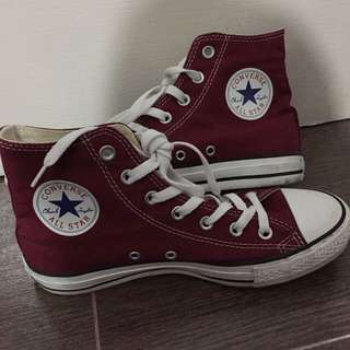 Authentic Converse Maroon High Cut Shoes
