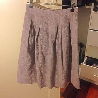 H&M High Waist Skirt In Size 8 Pale Pink