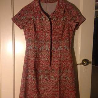 Vintage Size 8 Dress Paisley Print