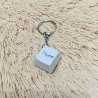 (手工)鍵盤鑰匙圈-Delete