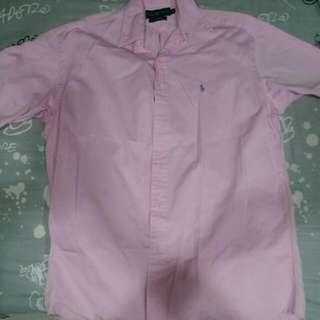 Ralph Lauren粉色短袖襯衫