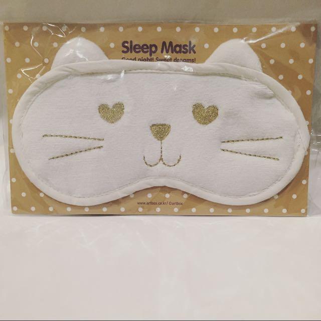 韓國購回 貓咪造型棉質眼罩 超可愛