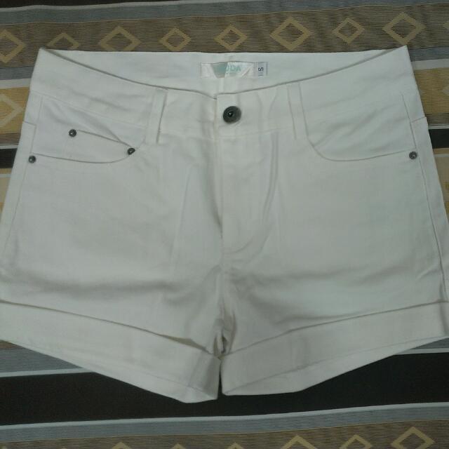 全新 高腰貼身短褲 白色 S號