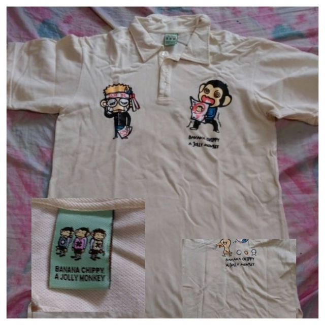 BANANA CHIPPY 米黃polo衫 (XL)