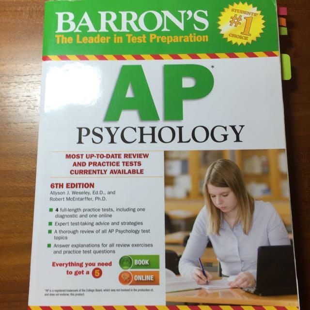 Barron's AP Psychology心理學 6th Edition