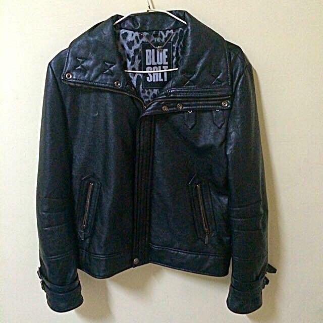 Blue Salt立領皮外套(原價30000)