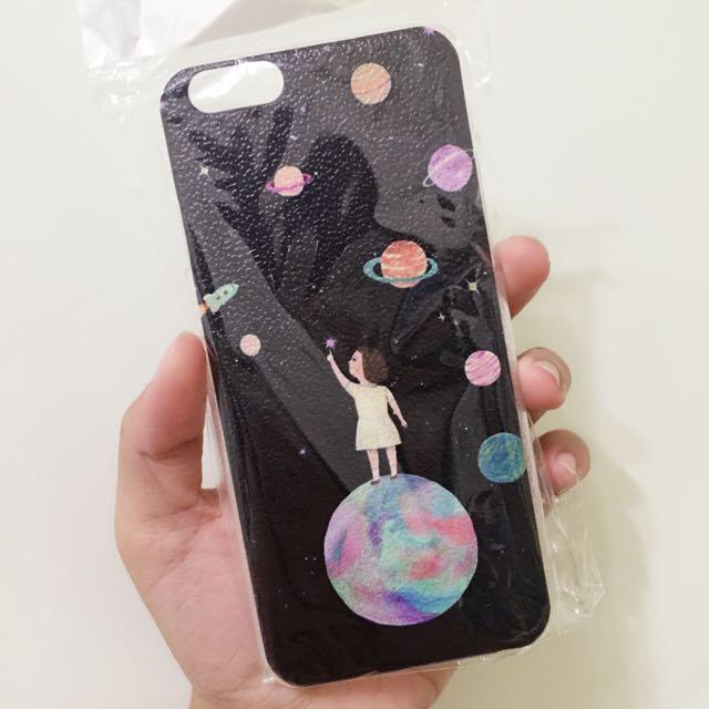 iphone6 女孩 星空 星球 小星星 硬殼
