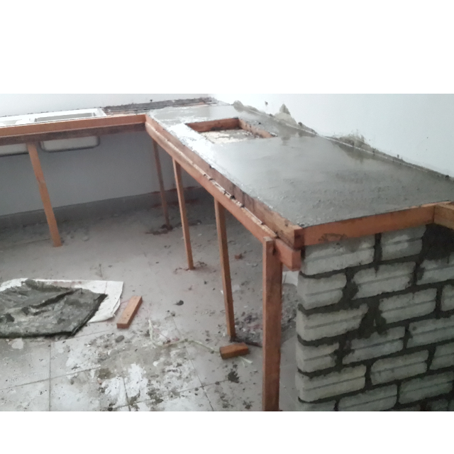 Mengambil Upah Membuat Dapur Concrete Top Kitchen Liances On Carou