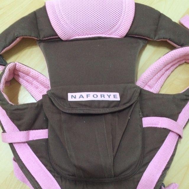 拉孚兒背巾(Naforye) -哈格幫手多功能嬰兒背巾-棕粉