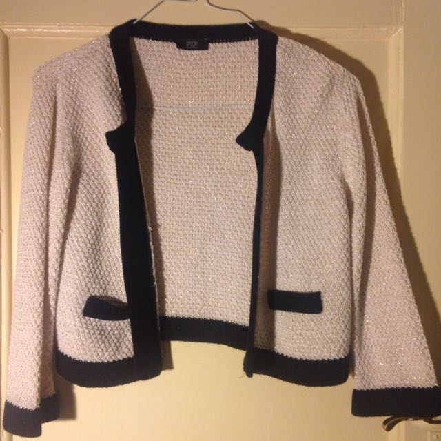 Size 8 Cardigan Black And White