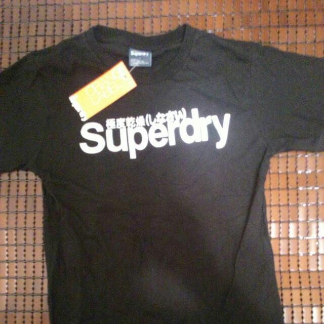 [暫停銷售]Superdry短袖黑白螢光