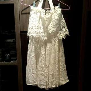 花朵 平口 洋裝