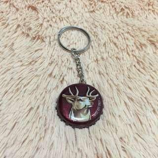 (手工) 瓶蓋鑰匙圈-公鹿