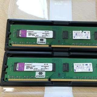 金士頓 DDR3 2G 記憶體
